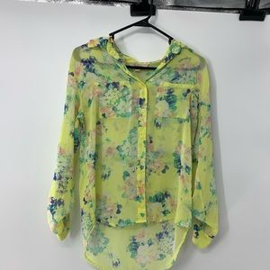 Women's Floral Long sleeve Button up